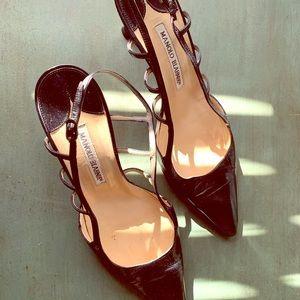 Manolo Blahnik black pumps, size 38 1/2
